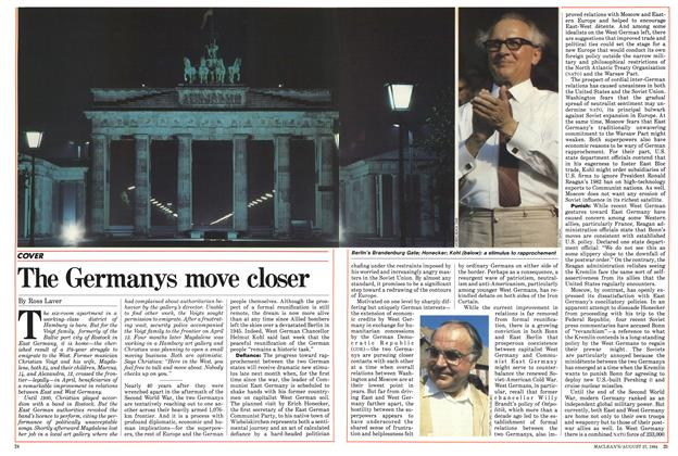 Article Preview: The Germanys move closer, August 1984 | Maclean's