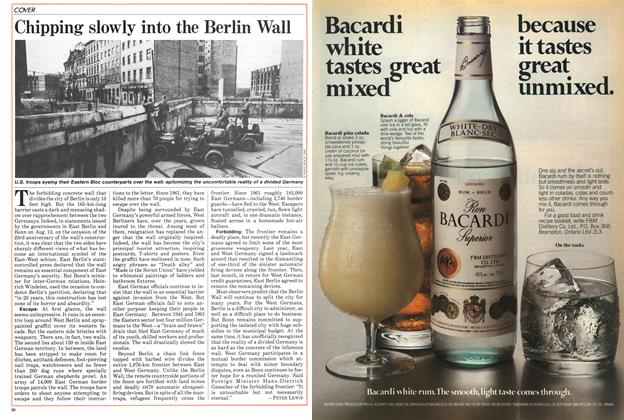 Article Preview: Chipping slowly into the Berlin Wall, August 1984 | Maclean's