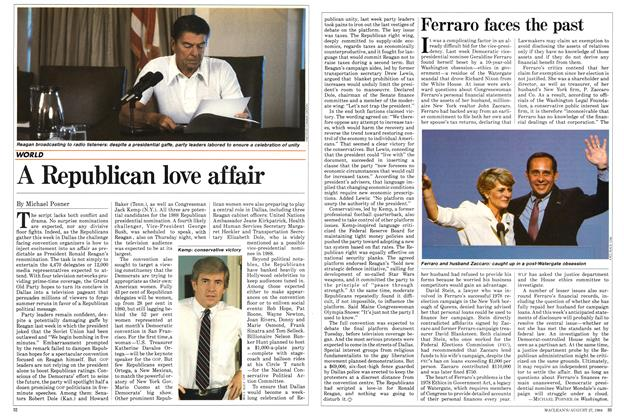 Article Preview: Ferraro faces the past, August 1984 | Maclean's