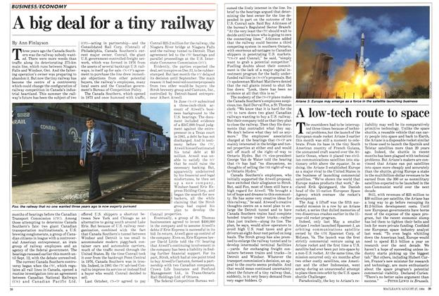 Article Preview: A big deal for a tiny railway, August 1984   Maclean's