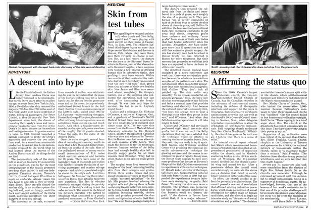 Article Preview: A descent into hype, August 1984 | Maclean's