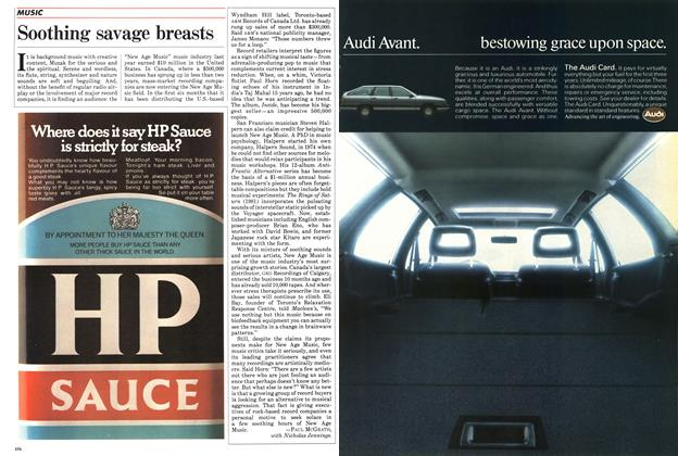 Article Preview: Soothing savage breasts, August 1984   Maclean's