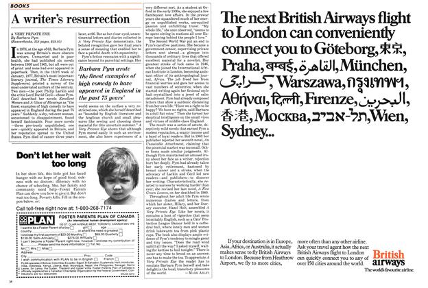 Article Preview: A writer's resurrection, August 1984 | Maclean's