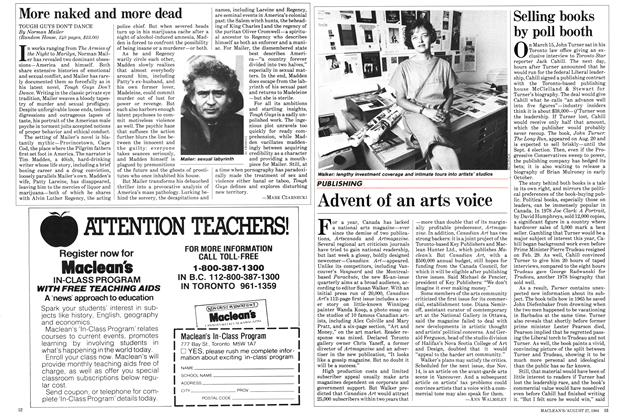 Article Preview: Advent of an arts voice, August 1984 | Maclean's