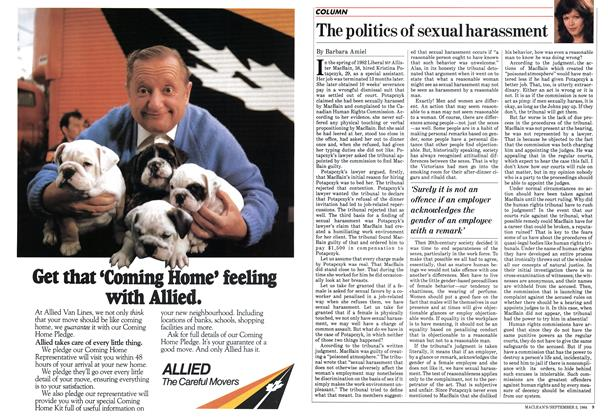 Article Preview: The politics of sexual harassment, September 1984 | Maclean's