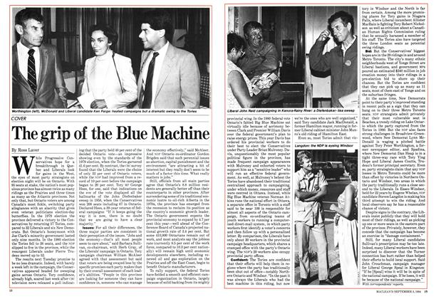 Article Preview: The grip of the Blue Machine, September 1984 | Maclean's