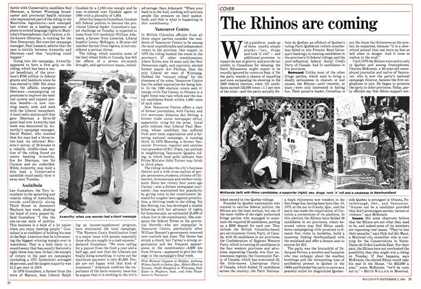 Article Preview: The Rhinos are coming, September 1984 | Maclean's