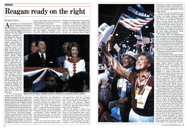 Article Preview: Reagan: ready on the right, September 1984 | Maclean's