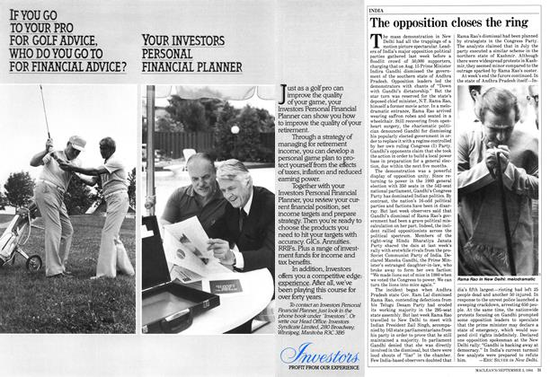 Article Preview: The opposition closes the ring, September 1984 | Maclean's