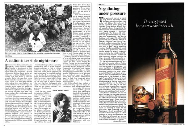 Article Preview: A nation's terrible nightmare, September 1984 | Maclean's
