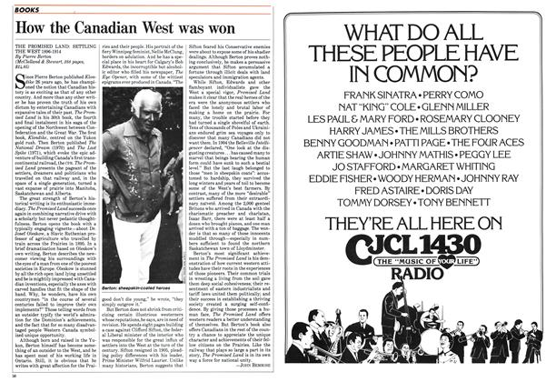 Article Preview: How the Canadian West was won, September 1984 | Maclean's