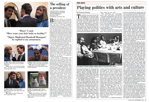 Article Preview: Playing politics with arts and culture, September 1984 | Maclean's