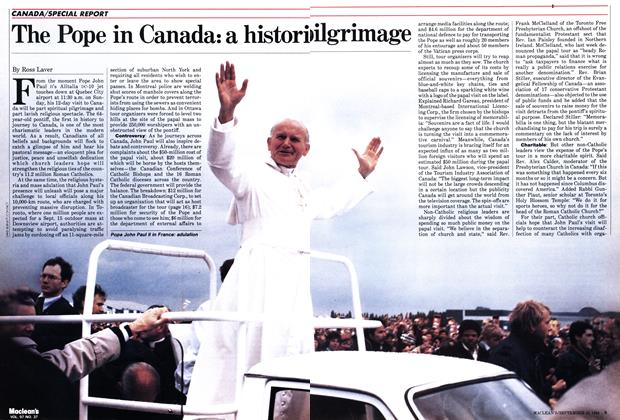 Article Preview: The Pope in Canada: a historiclgrimage, September 1984 | Maclean's