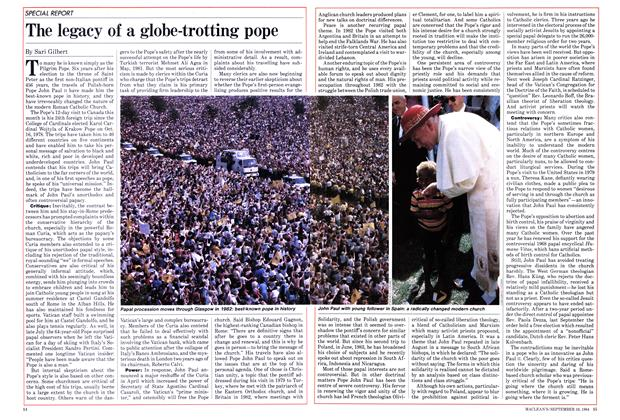 Article Preview: The legacy of a globe-trotting pope, September 1984 | Maclean's