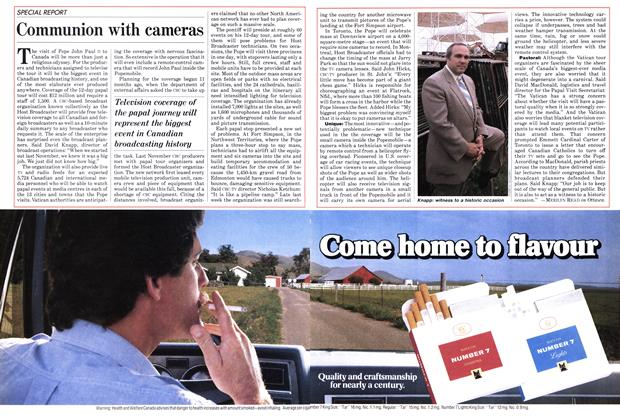 Article Preview: Communion with cameras, September 1984 | Maclean's