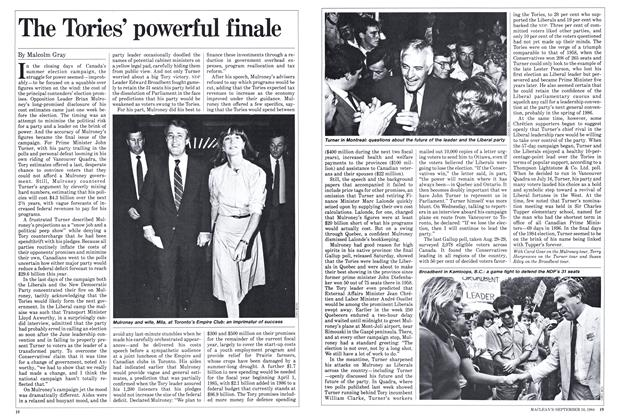 Article Preview: The Tories' powerful finale, September 1984 | Maclean's