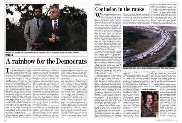 Article Preview: A rainbow for the Democrats, September 1984 | Maclean's
