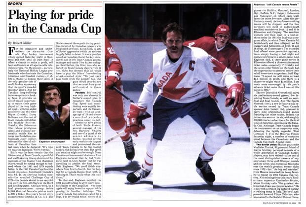 Article Preview: Playing for pride in the Canada Cup, September 1984 | Maclean's
