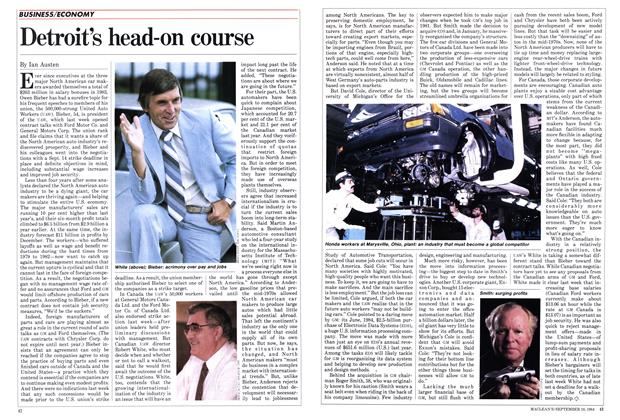 Article Preview: Detroit's head-on course, September 1984 | Maclean's
