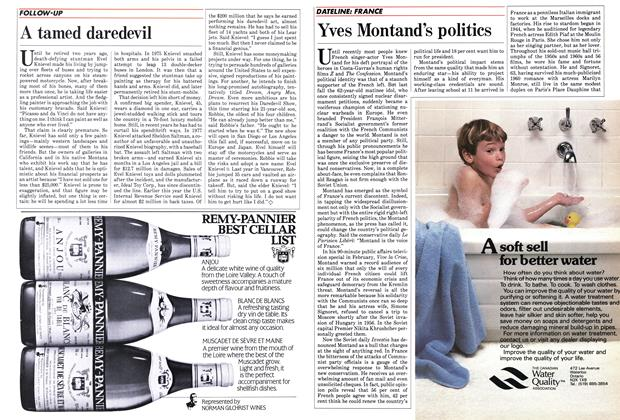 Article Preview: Yves Montand's politics, September 1984 | Maclean's