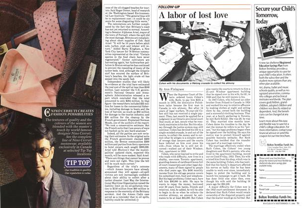 Article Preview: A labor of lost love, September 1984 | Maclean's