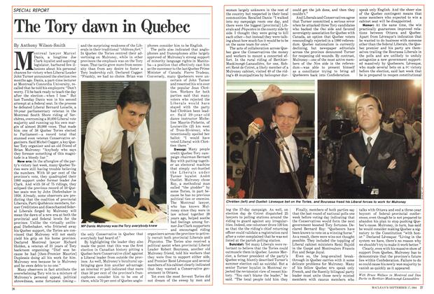 Article Preview: The Tory dawn in Quebec, September 1984 | Maclean's