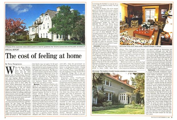 Article Preview: The cost of feeling at home, September 1984 | Maclean's