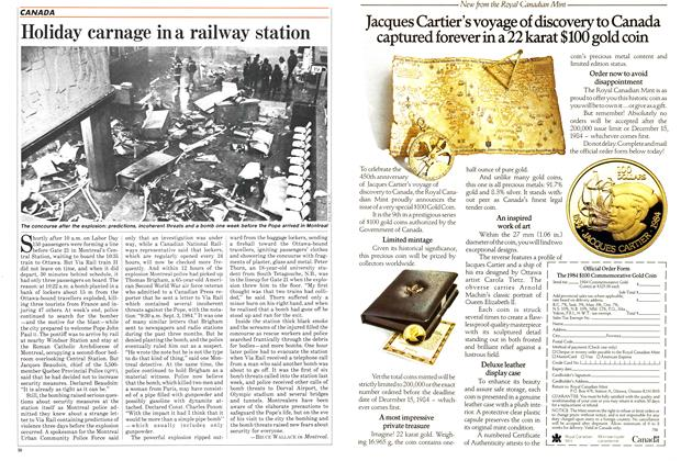 Article Preview: Holiday carnage in a railway station, September 1984 | Maclean's