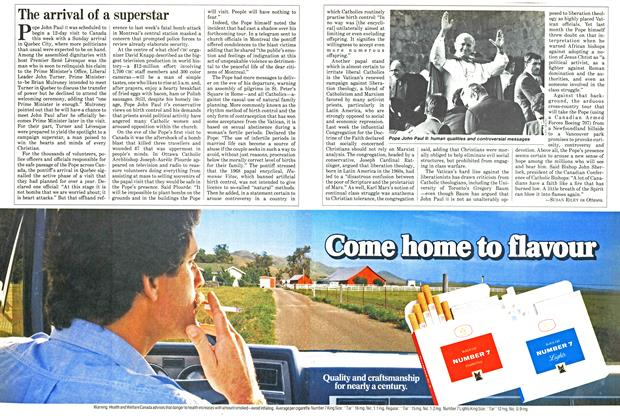 Article Preview: The arrival of a superstar, September 1984 | Maclean's