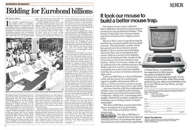 Article Preview: Bidding for Eurobond billions, September 1984 | Maclean's