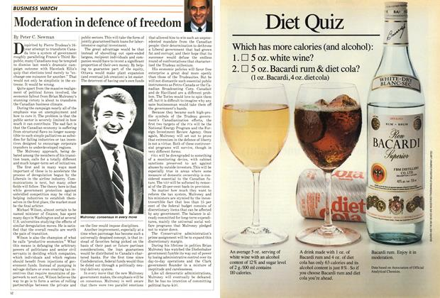 Article Preview: Moderation in defence of freedom, September 1984 | Maclean's