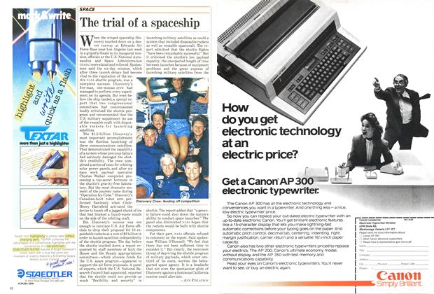 Article Preview: The trial of a spaceship, September 1984 | Maclean's