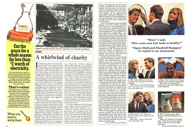 Article Preview: A whirlwind of charity, September 1984 | Maclean's