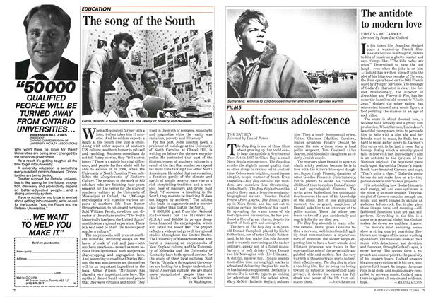 Article Preview: A soft-focus adolescence, September 1984 | Maclean's