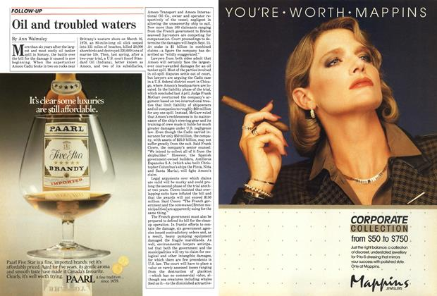 Article Preview: Oil and troubled waters, September 1984 | Maclean's