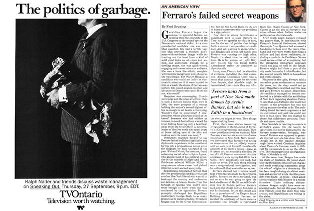 Article Preview: Ferraro's failed secret weapons, SEPTEMBER 24,1984 1984 | Maclean's