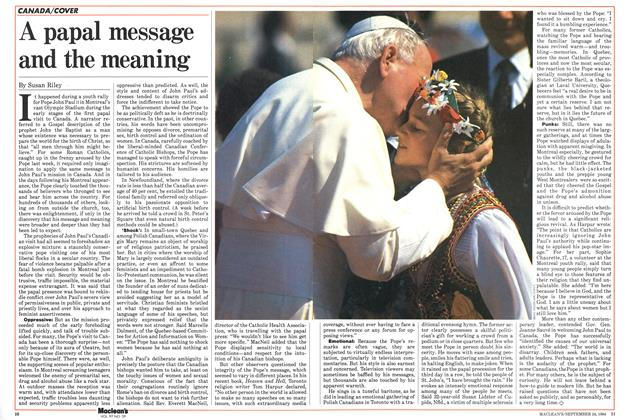 Article Preview: A papal message and the meaning, SEPTEMBER 24,1984 1984 | Maclean's