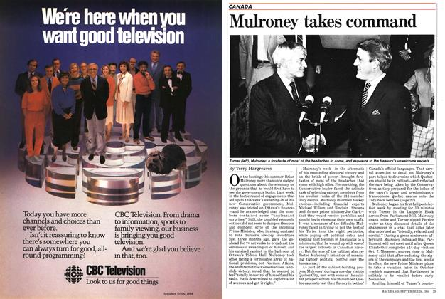 Article Preview: Mulroney takes command, SEPTEMBER 24,1984 1984 | Maclean's