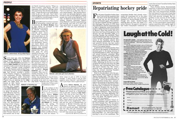 Article Preview: Repatriating hockey pride, SEPTEMBER 24,1984 1984 | Maclean's