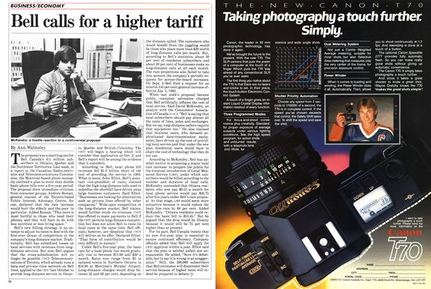 Article Preview: Bell calls for a higher tariff, SEPTEMBER 24,1984 1984 | Maclean's