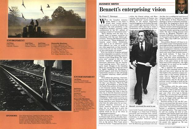 Article Preview: Bennett's enterprising vision, SEPTEMBER 24,1984 1984 | Maclean's