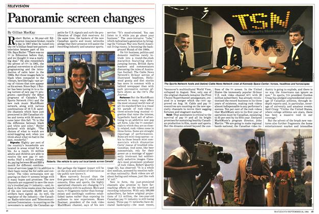 Article Preview: Panoramic screen changes, SEPTEMBER 24,1984 1984 | Maclean's