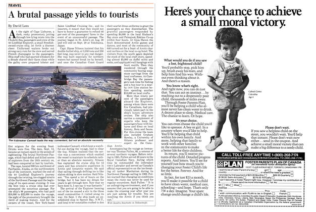 Article Preview: A brutal passage yields to tourists, SEPTEMBER 24,1984 1984 | Maclean's