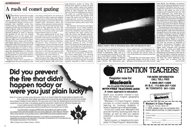 Article Preview: A rash of comet gazing, SEPTEMBER 24,1984 1984 | Maclean's