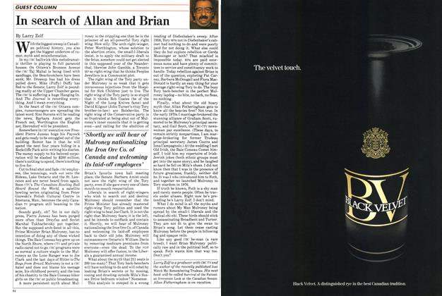 Article Preview: In search of Allan and Brian, SEPTEMBER 24,1984 1984 | Maclean's