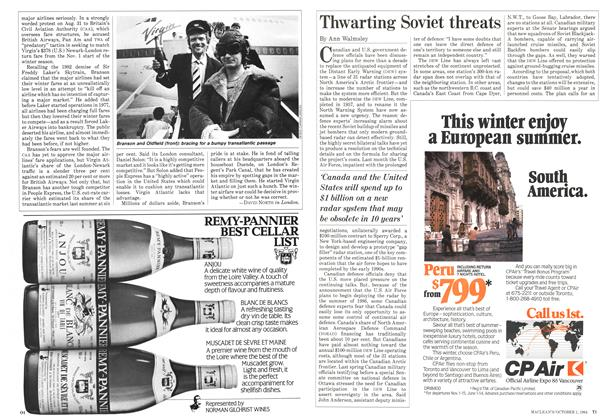 Article Preview: Thwarting Soviet threats, October 1984 | Maclean's
