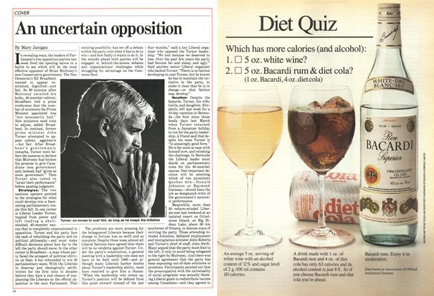 Article Preview: An uncertain opposition, October 1984 | Maclean's