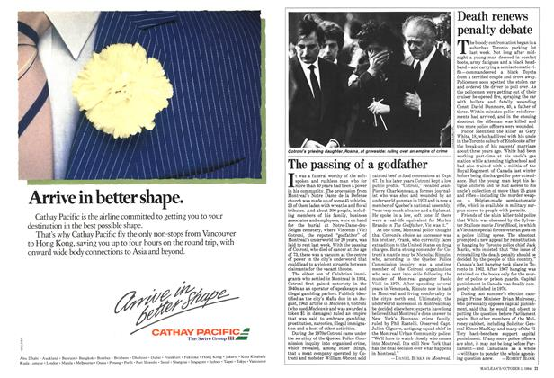 Article Preview: Death renews penalty debate, October 1984 | Maclean's