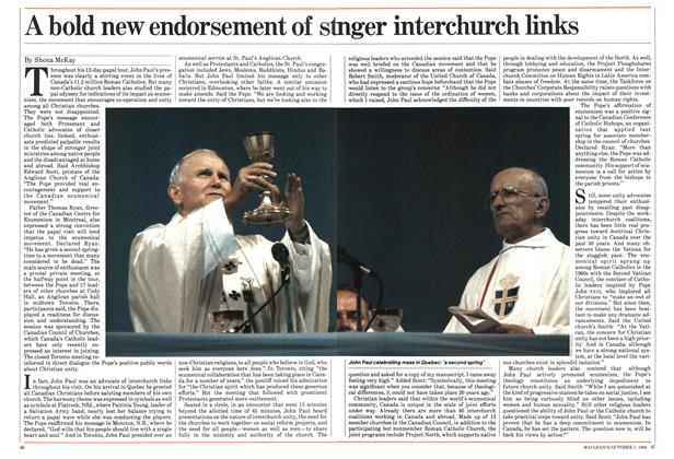 Article Preview: A bold new endorsement of stranger interchurch links, October 1984 | Maclean's