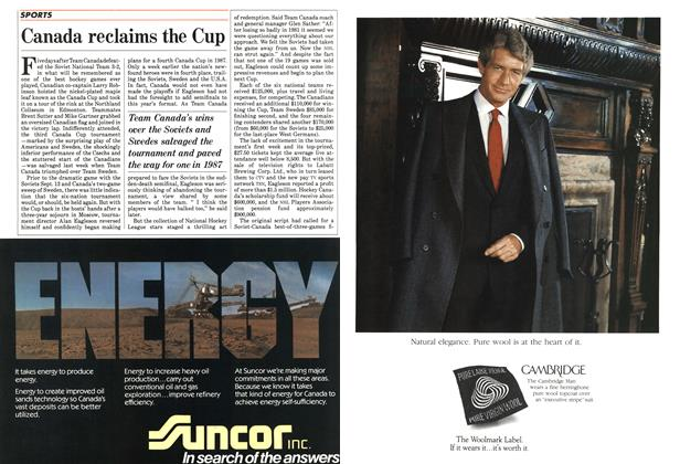 Article Preview: Canada reclaims the Cup, October 1984 | Maclean's